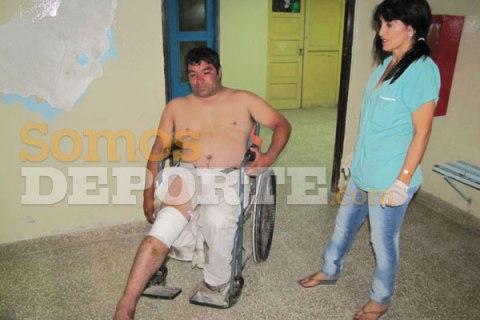 un tifoso del Guemes lascia l'ospedale