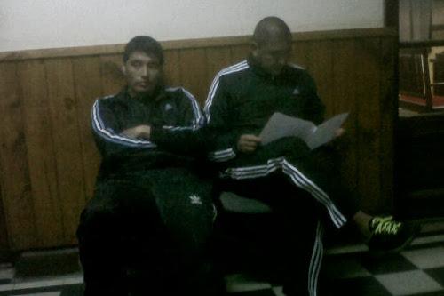 Guzman e Jaramillo nel commissariato di Polizia