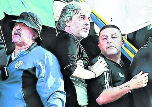 Marcelo Aravena (sulla destra) accanto a Rafa Di Zeo